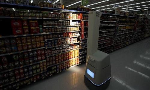 robot scanning shelves